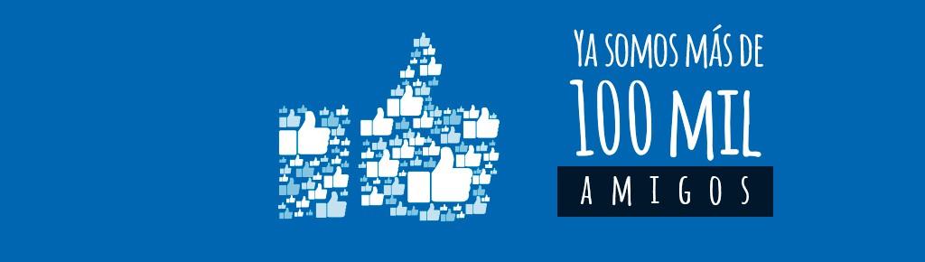 """Imagen: """"Gracias a ti"""" somos más de 100 mil amigos en Facebook"""