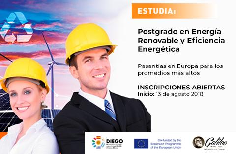 Imagen: Postgrado en Energía Renovable y Eficiencia Energética