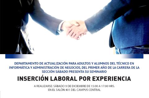 """Imagen: Seminario """"Inserción Laboral por Experiencia"""""""