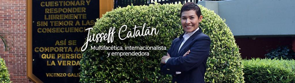Imagen: Jusseff Catalán: multifacética, internacionalista y emprendedora