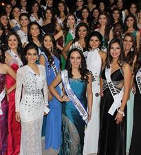 Imagen:  Presentación de candidatas a Miss Guatemala Latina 2015 en U galileo