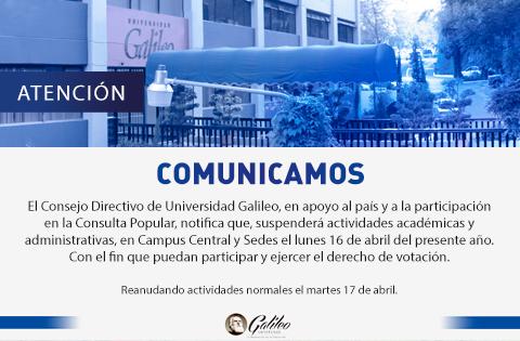 Imagen: SUSPENSIÓN DE ACTIVIDADES ACADÉMICAS Y ADMINISTRATIVAS