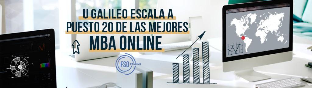 Imagen: U Galileo escala a puesto 20 de las mejores MBA online a nivel mundial