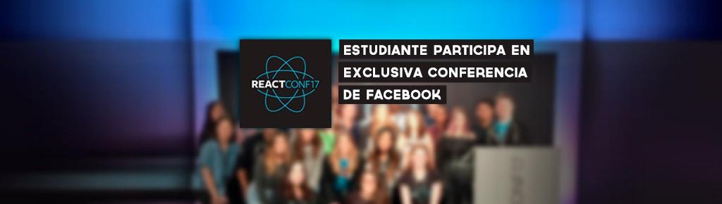 Imagen: Estudiante participa en React Conf exclusiva conferencia de Facebook