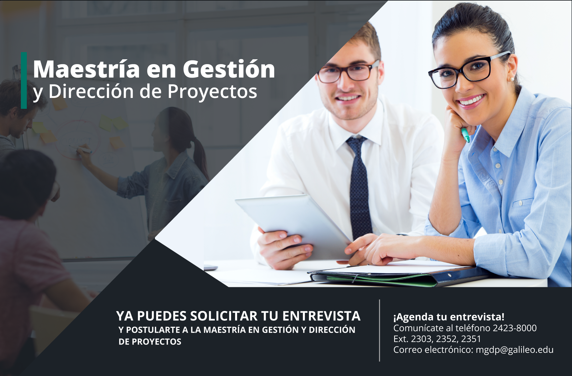 Imagen: Maestría en Gestión y Dirección de Proyectos - spot