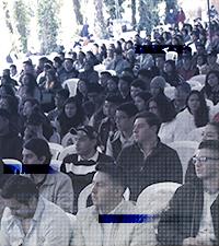 Imagen: Estudiantes dan bienvenida al ciclo académico 2018 en Universidad Galileo