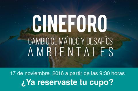 """Imagen: CineForo """"Cambio climático y desafíos ambientales"""""""
