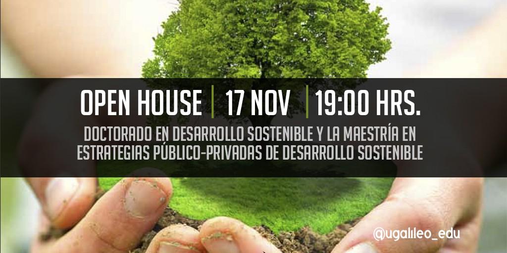 Imagen: Open House del Doctorado en Desarrollo Sostenible