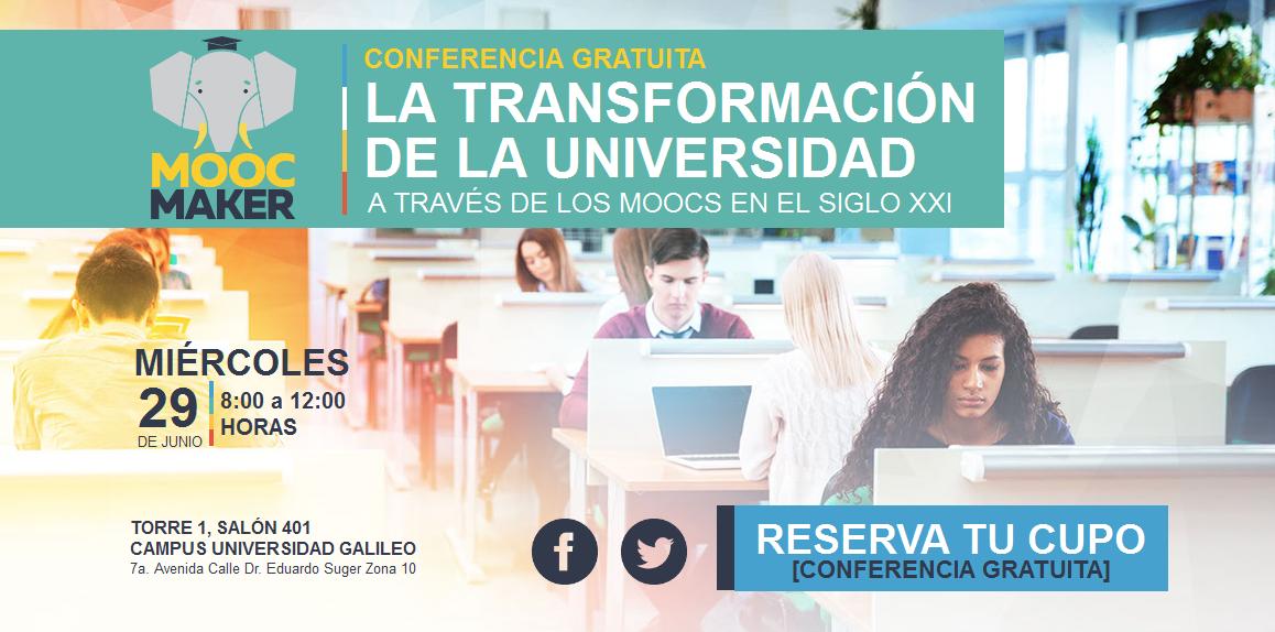 Imagen: Transformación de la Universidad a través de los MOOCS