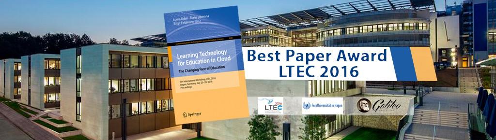 """Imagen: Investigación sobre educación virtual obtiene premio """"Best Paper Award LTEC"""""""