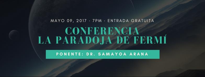 Imagen: Conferencia: La paradoja de Fermí