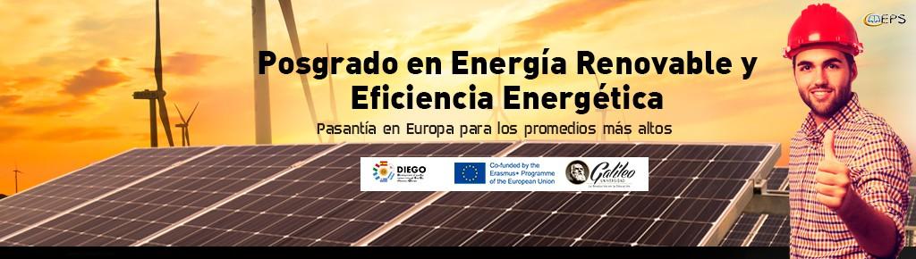 Imagen: Estudia Posgrado en Energía Renovable y Eficiencia Energética con