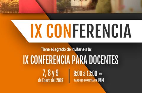 Imagen: IX Conferencia para Docentes - spot