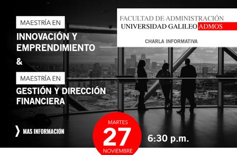 Imagen: Charla Informativa - Maestrías ADMOS spot